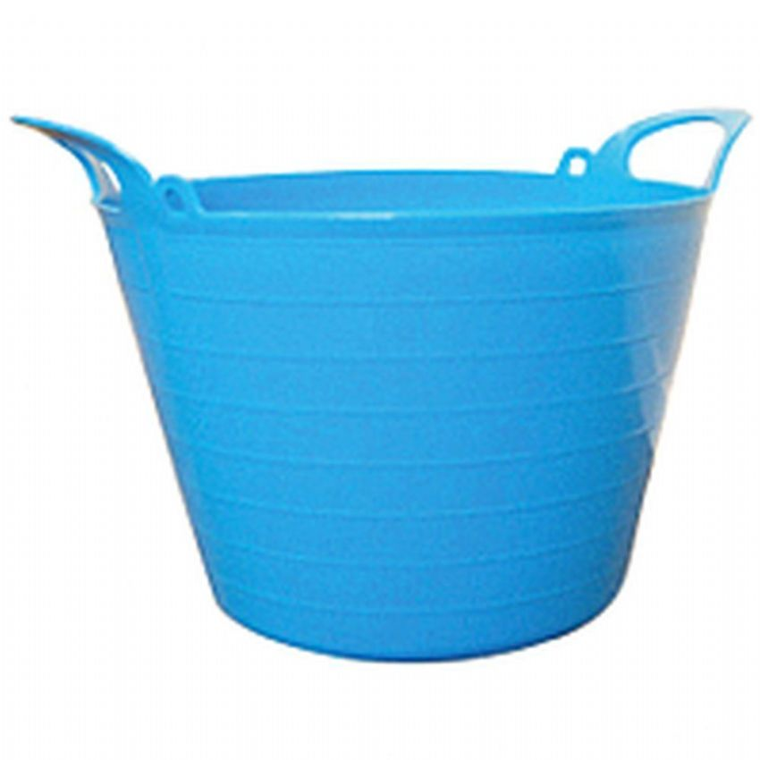Round Plastic Carry Storage Tubs Blue 4 Sizes